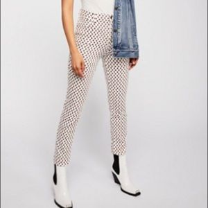 Long and Lean Printed Jegging PianoTunesIvoryCombo
